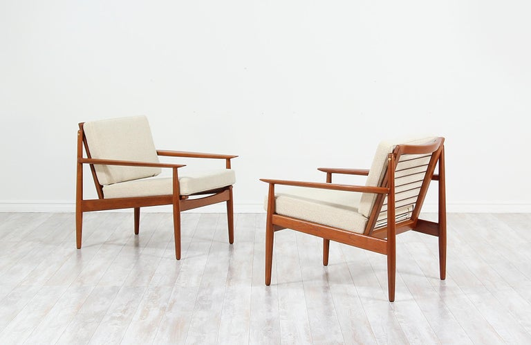 Mid-20th Century Danish Modern Lounge Chairs by Svend Åge Eriksen For Sale