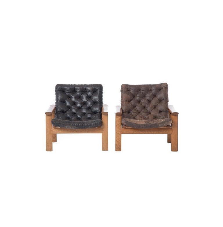 Leather Danish Modern Lounge Chairs