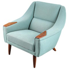 Danish Modern Lowback Teak Paw Lounge Chair