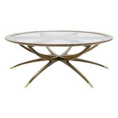 Danish Modern Mahogany Spider Leg Coffee Table