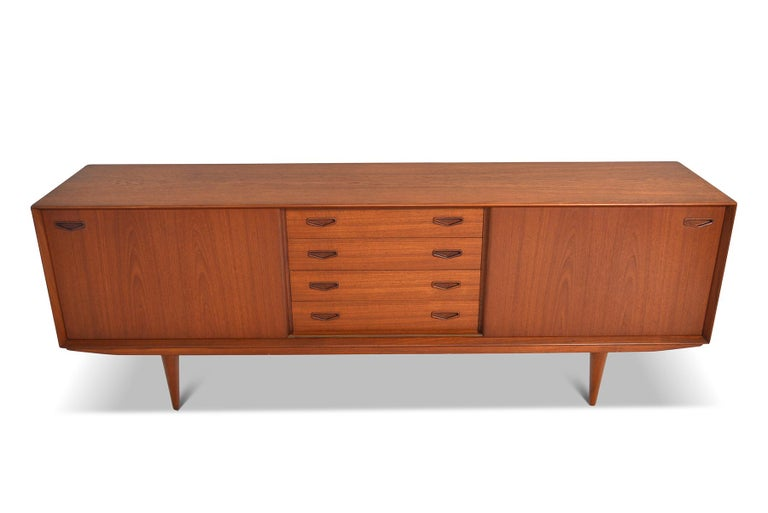 Danish Modern Midcentury Teak Credenza by Clausen and Son #2 In Excellent Condition For Sale In Berkeley, CA