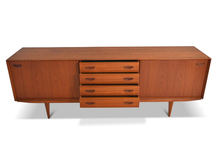 Mid-20th Century Danish Modern Midcentury Teak Credenza by Clausen and Son #2 For Sale