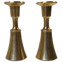 Danish Modern Miniature Brass Candlesticks by Jens H. Quistgaard, 1960s