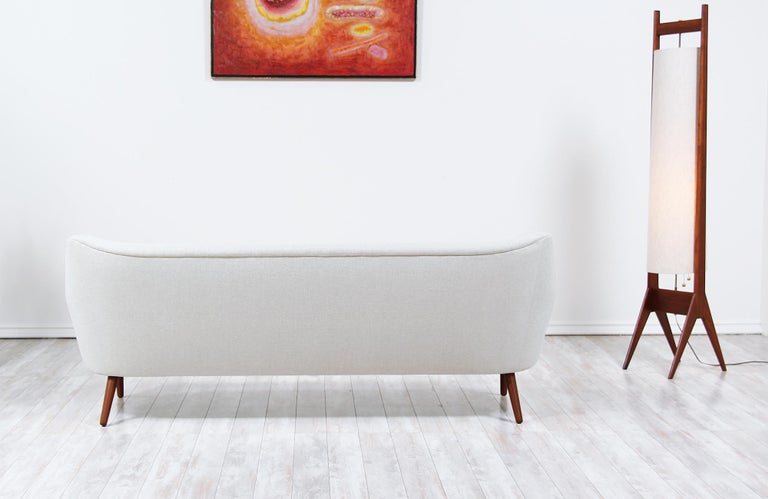 Fabric Danish Modern Model-58 Sofa by Kurt Ostervig for Rolschau Mobler For Sale