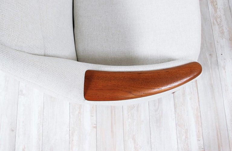 Danish Modern Model-58 Sofa by Kurt Ostervig for Rolschau Mobler For Sale 2