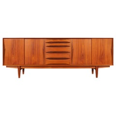Danish Modern Model-63 Teak Credenza by Henry Rosengren Hansen