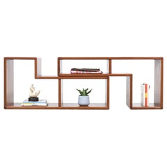 Danish Modern Modular Display Nesting Teak Bookshelf