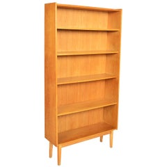 Danish Modern Narrow Oak Bookcase