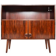 Danish Modern Narrow Rosewood Bookcase