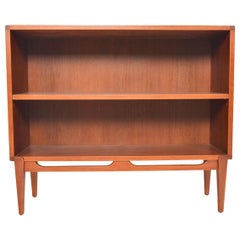Danish Modern Narrow Teak Bookcase #1