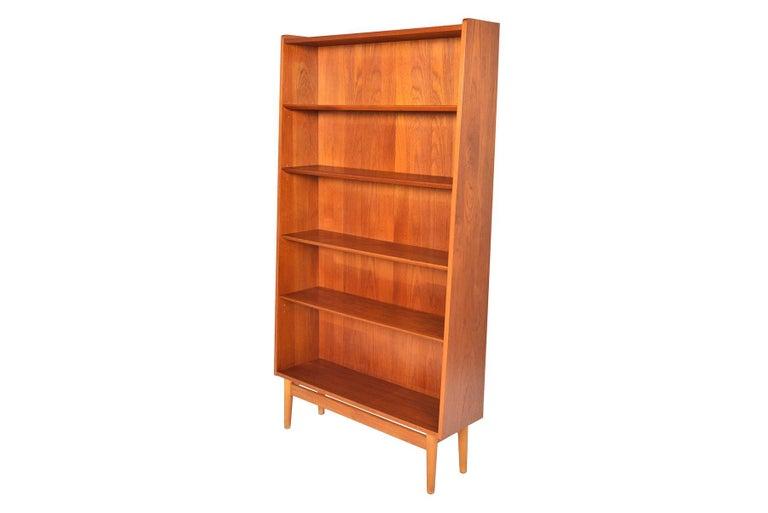 Scandinavian Modern Danish Modern Narrow Teak Bookcase by Nexø For Sale