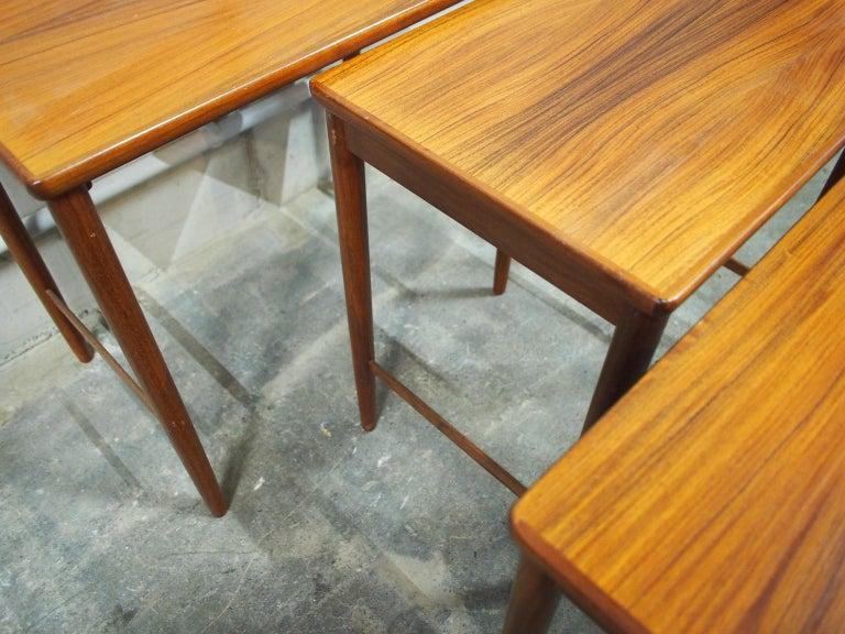 Danish Modern Nesting Table, Side Table, Vintage, Opal 3