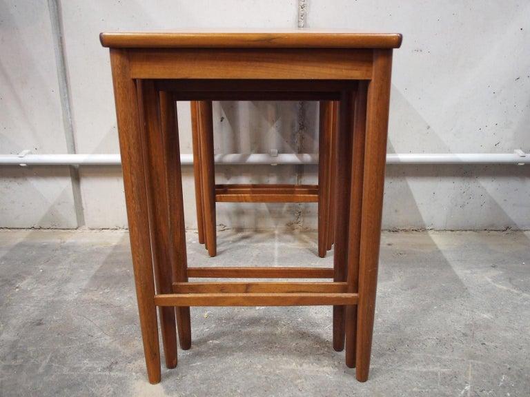 Danish Modern Nesting Table, Side Table, Vintage, Opal 4