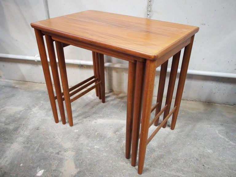Danish Modern Nesting Table, Side Table, Vintage, Opal 6