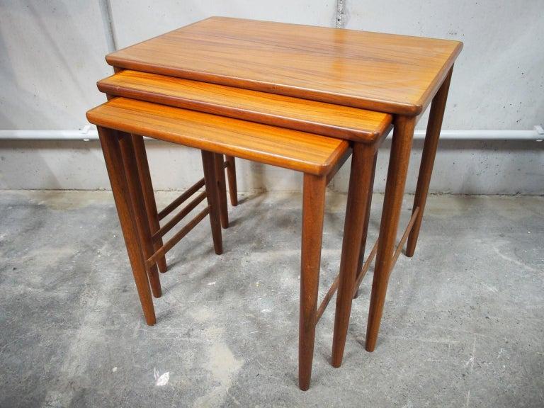 Danish Modern Nesting Table, Side Table, Vintage, Opal 7