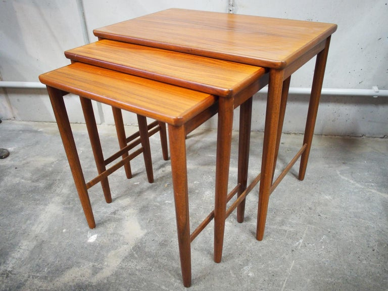 Danish Modern Nesting Table, Side Table, Vintage, Opal 8