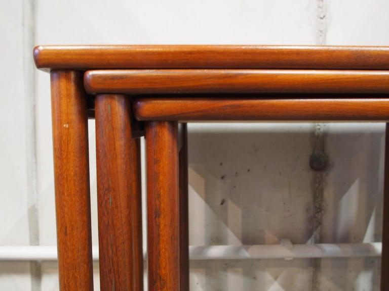 Mid-20th Century Danish Modern Nesting Table, Side Table, Vintage, Opal