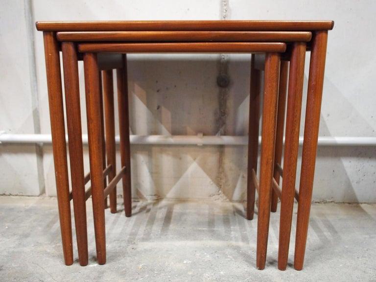 Danish Modern Nesting Table, Side Table, Vintage, Opal 2