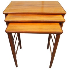 Danish Modern Nesting Table, Side Table, Vintage, Opal