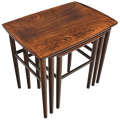 Danish Modern Nesting Tables in Rosewood by Heltborg #2