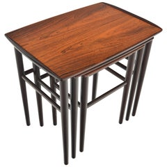 Danish Modern Nesting Tables in Rosewood by Heltborg