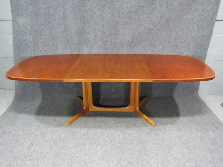 Danish Modern Niels Otto Møller for Gudme Teak Extension Trestle Dining Table For Sale 6