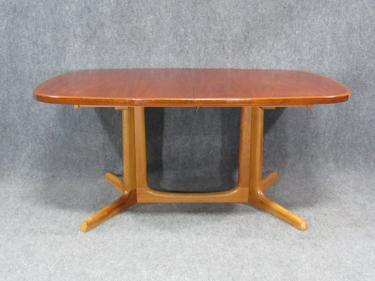 Danish Modern Niels Otto Møller for Gudme Teak Extension Trestle Dining Table For Sale 7