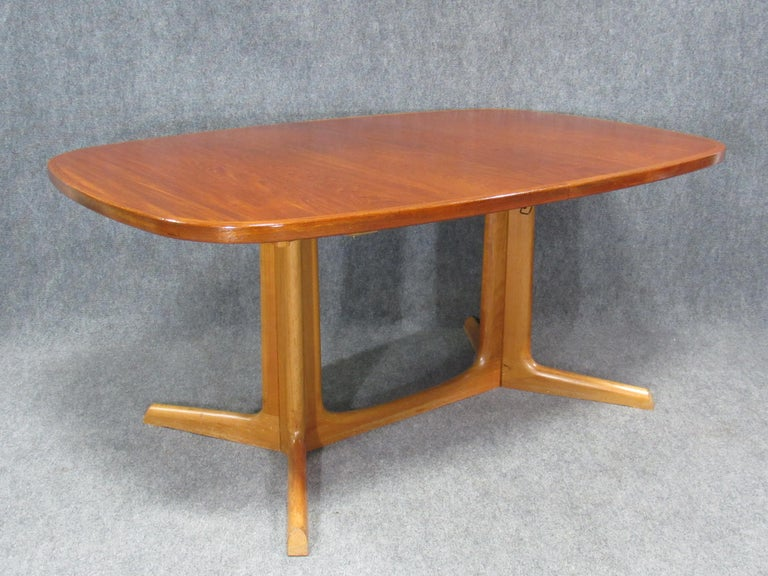 Danish Modern Niels Otto Møller for Gudme Teak Extension Trestle Dining Table For Sale 8