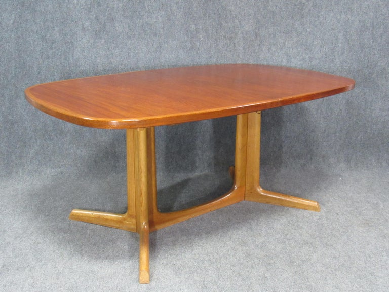 Danish Modern Niels Otto Møller for Gudme Teak Extension Trestle Dining Table For Sale 11