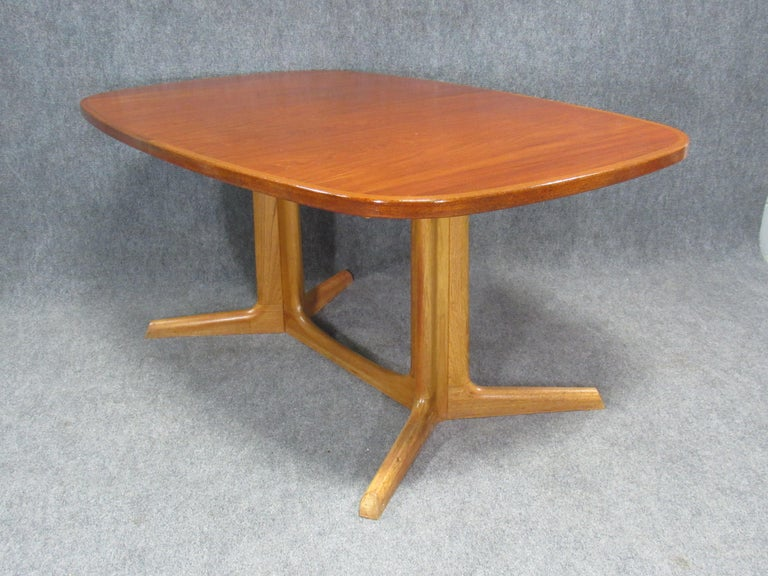 Danish Modern Niels Otto Møller for Gudme Teak Extension Trestle Dining Table For Sale 13