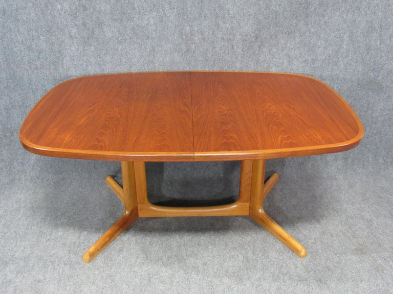 Mid-Century Modern Danish Modern Niels Otto Møller for Gudme Teak Extension Trestle Dining Table For Sale