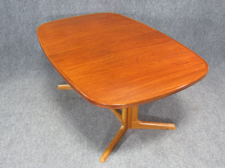 Danish Modern Niels Otto Møller for Gudme Teak Extension Trestle Dining Table For Sale 1