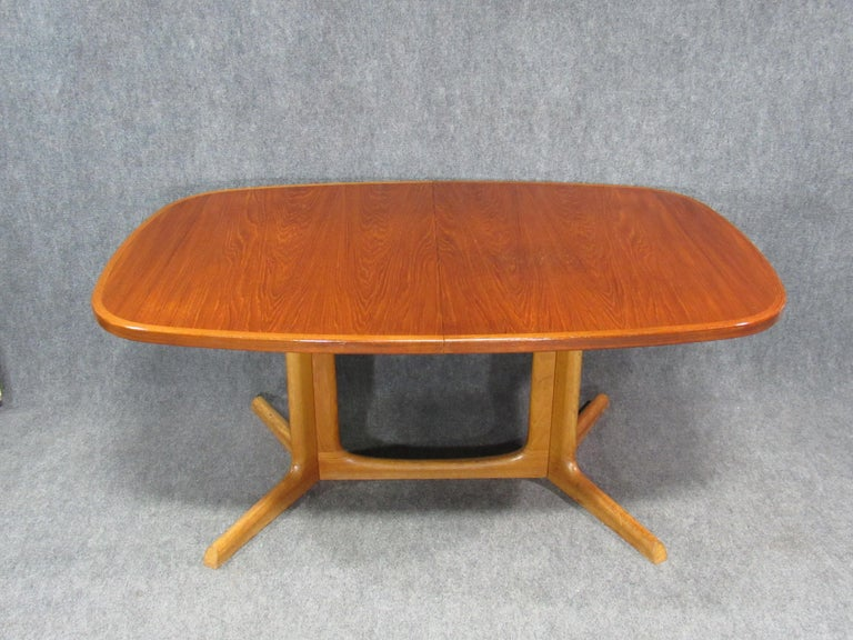 Danish Modern Niels Otto Møller for Gudme Teak Extension Trestle Dining Table For Sale 2
