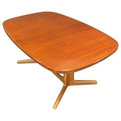 Danish Modern Niels Otto Møller for Gudme Teak Extension Trestle Dining Table