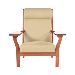 Danish Modern Oak Armchair by Hans Wegner, 1970s