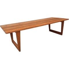 Danish Modern Oak Coffee Table by Børge Mogensen for Fredericia, 1960s