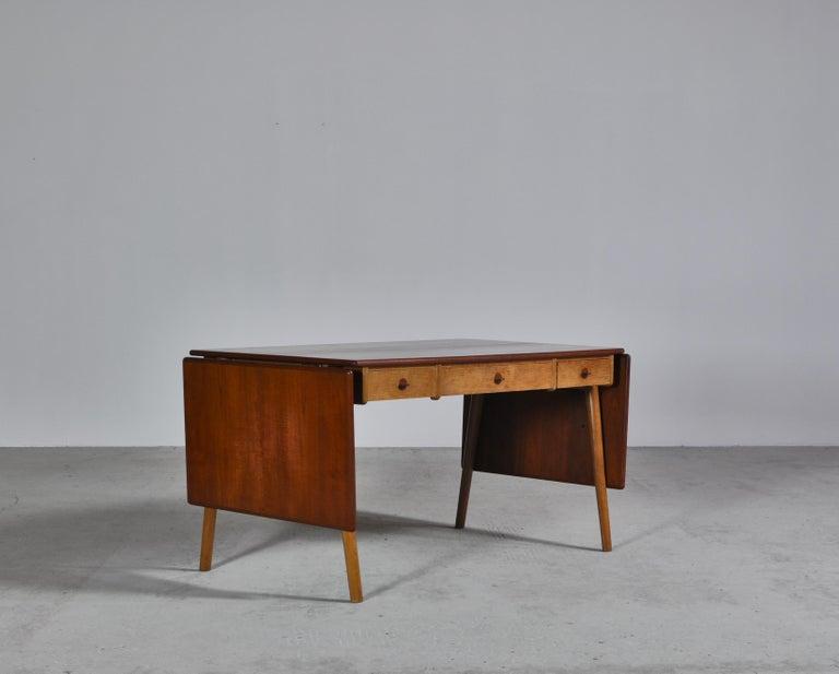 Scandinavian Modern Danish Modern Oak & Teakwood Desk