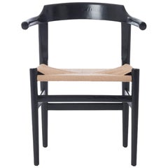 Danish Modern Occasional Chair with Truncated Arms