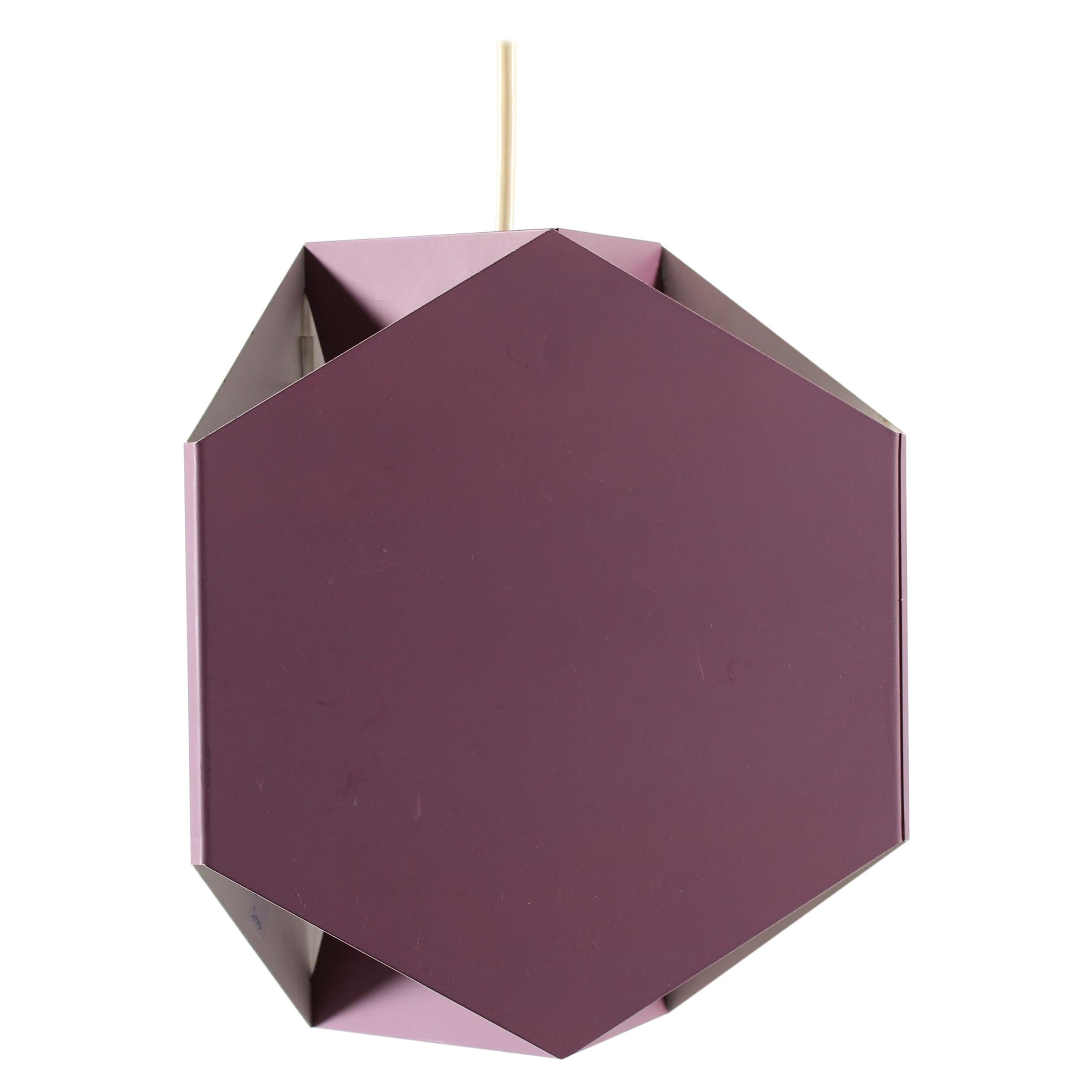 Danish Modern Ole Panton Seks-Tre-Pendel of Metal + Purple lacquer by Lyfa 1960s