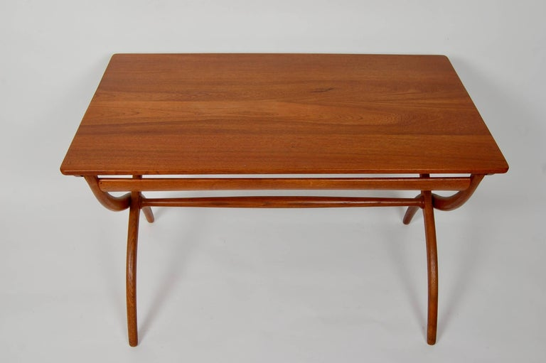 Danish Modern Ole Wanscher Adjustable Coffee / Dinette Table For Sale 2