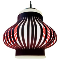 Danish Modern 'Opal Lamella' Pendant Lamp by Svend Aage Holm Sorensen, 1950s