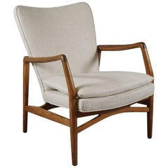 Danish Modern Open Armchair by Designer Kurt Olsen