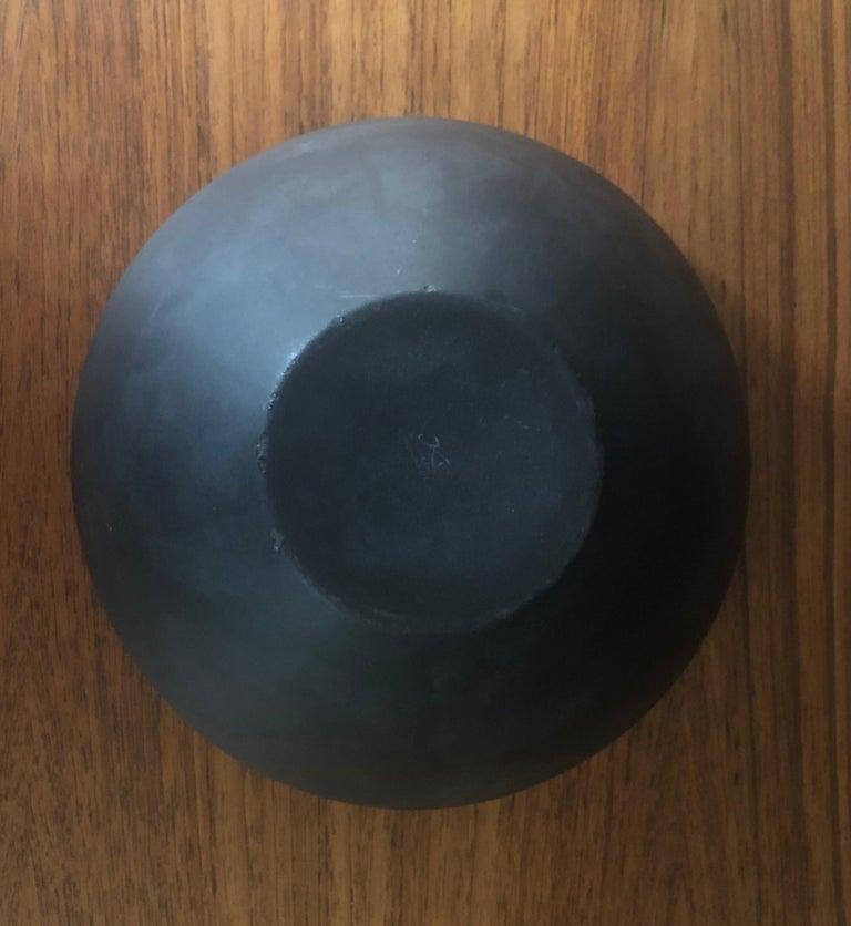 Danish Modern Orange Enamel Krenit Bowl by Herbert Krenchel for Torben Orskov For Sale 1