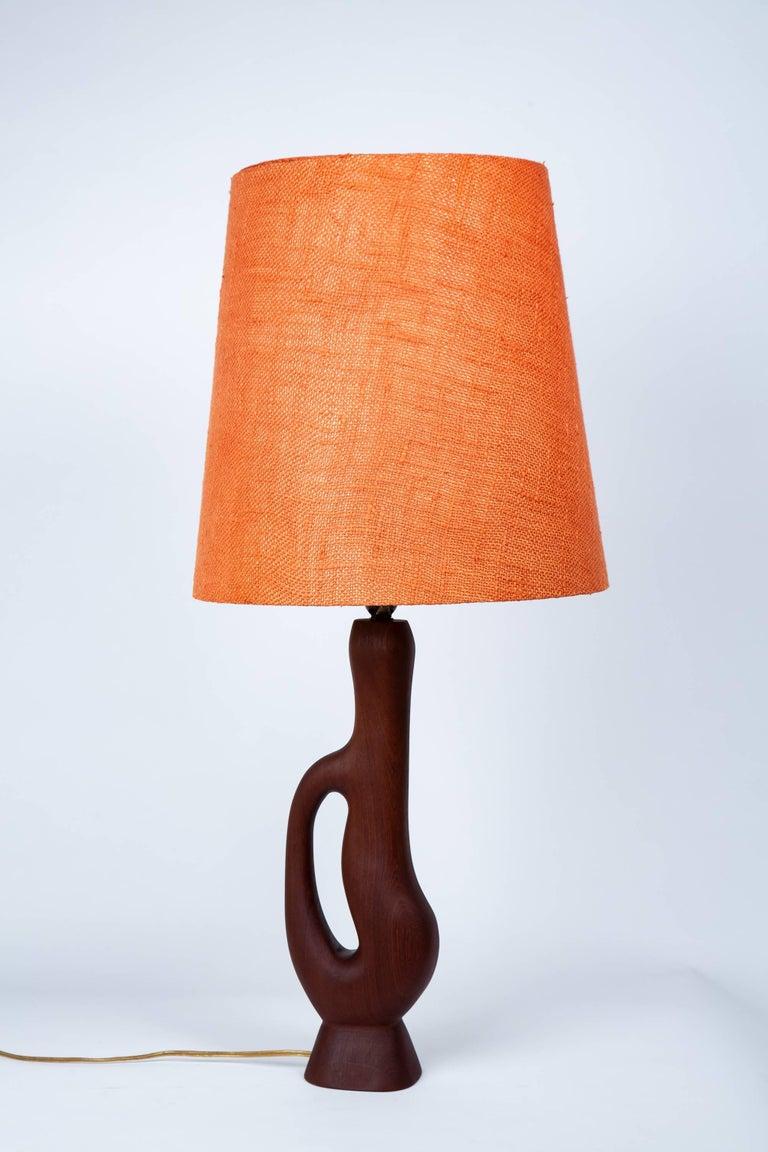 Danish Modern Organic Form Teak Lamps by ESA Denmark For Sale 1