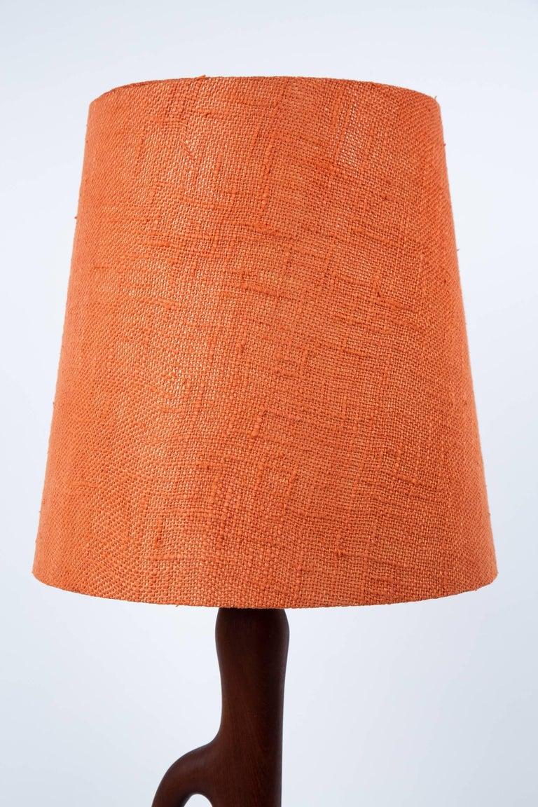 Danish Modern Organic Form Teak Lamps by ESA Denmark For Sale 2