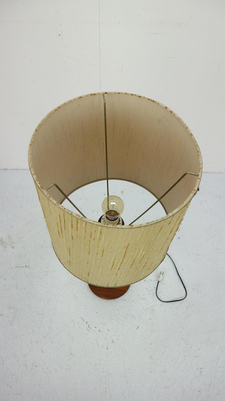 Danish Modern Organic Form Teak Table Lamp, 1960 Denmark ...