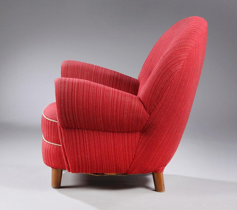 Danish Modern Organic-Shaped Chair In Good Condition For Sale In Hudson, NY