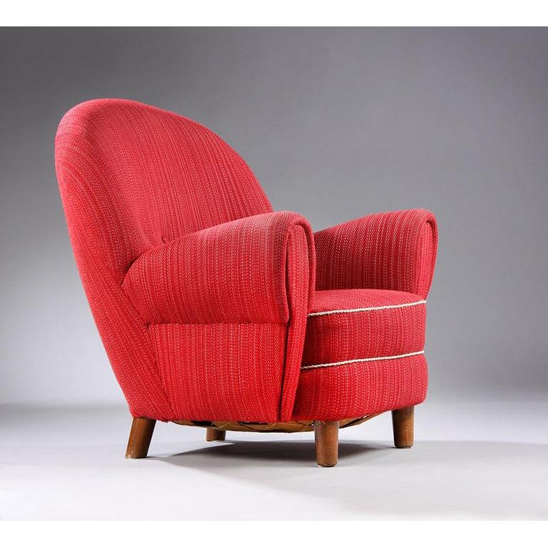 Danish Modern Organic-Shaped Chair For Sale