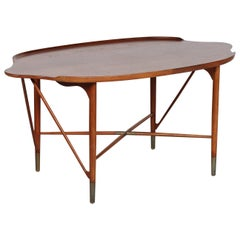 Danish Modern Organically Shaped Coffee Table in Finn Juhl Style, Denmark, 1950s