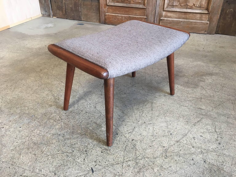 Fabric Danish Modern Ottoman For Sale